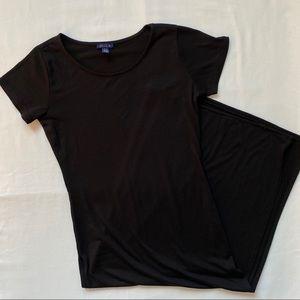 3/20$ UK2LA Black Long Slit Short Sleeve